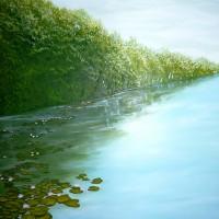 Trakų ežere, aliejus 60x50 cm
