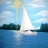 Laivelis, akrilas, 40x30 cm